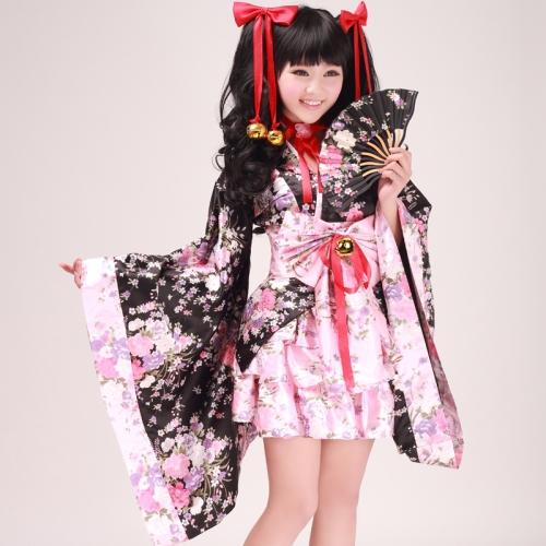 Model Dress Kimono Jepang Gothic Loli