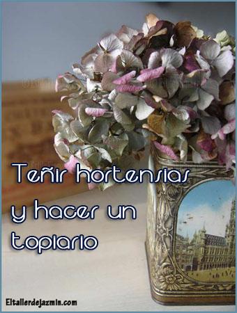 C mo te ir hortensias y hacer un topiario - Como secar hortensias ...