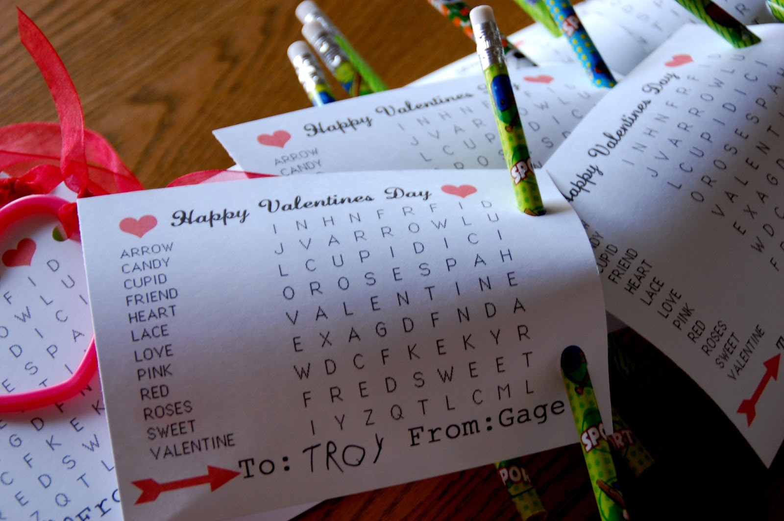 Printable Valentine Word Search
