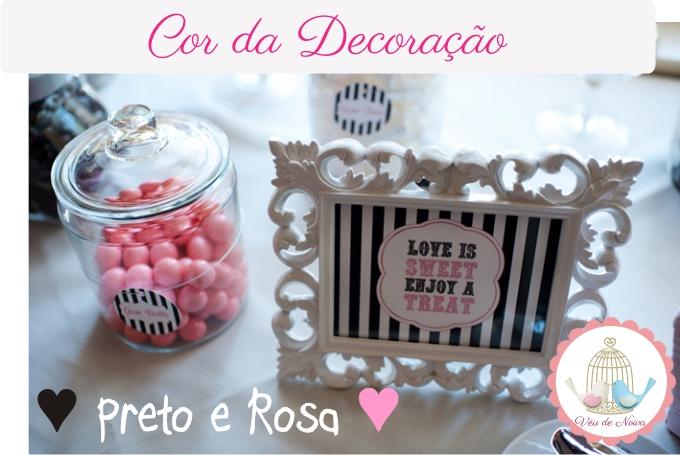 Casamento Preto e Rosa