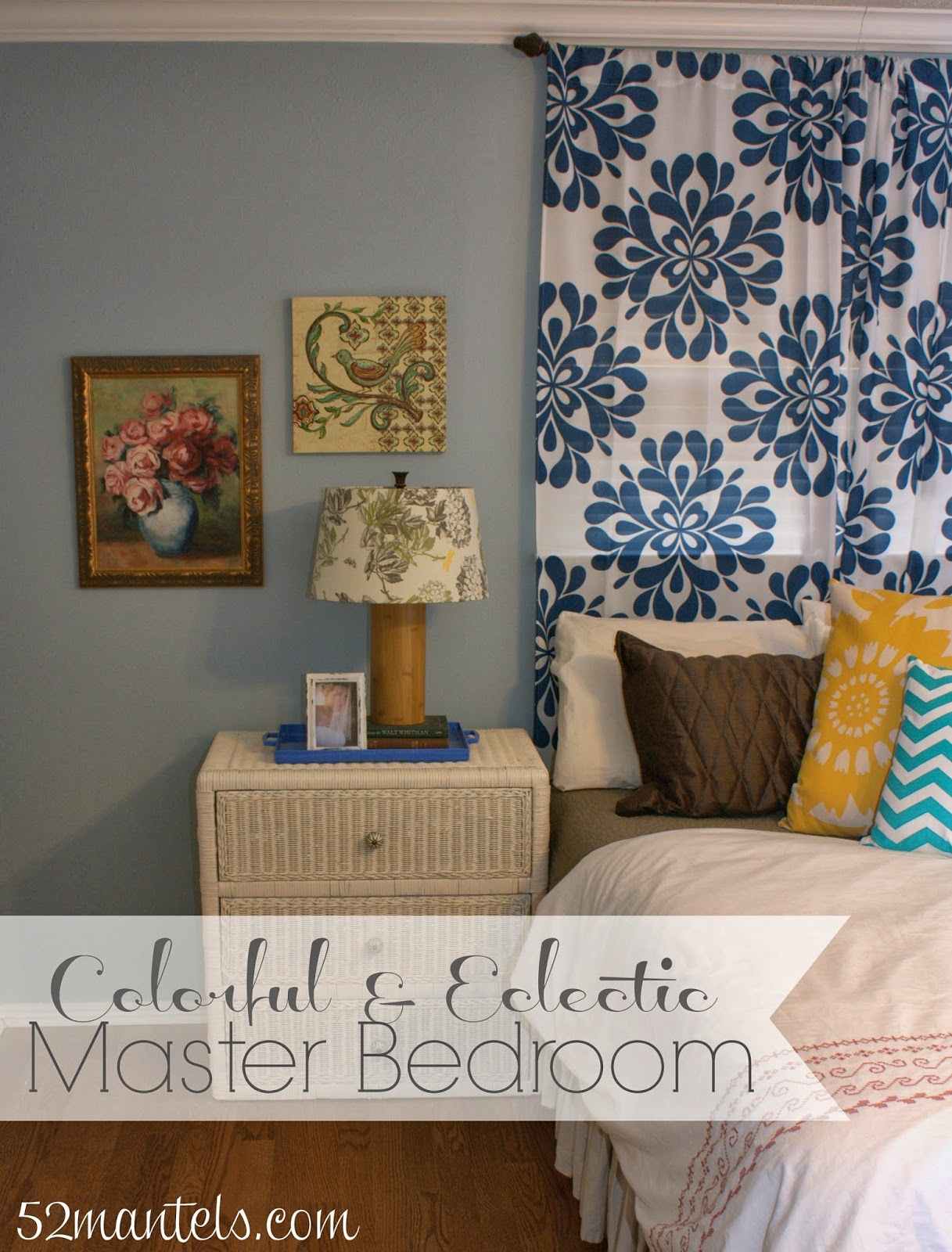 Colorful Master Bedroom 52 Mantels Be Bold Challenge Colorful Eclectic Master Bedroom