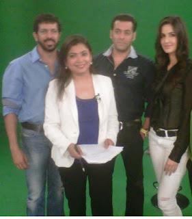 Salman and Katrina at Chat Show to promote their film Ek Tha Tiger