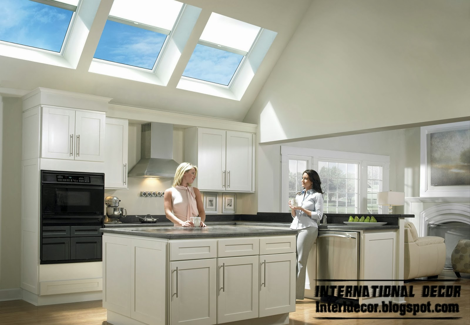 kitchen skylight designs, skylight windows