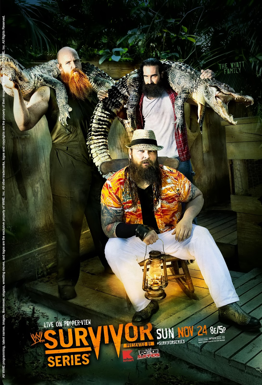 Este es el póster oficial de WWE Survivor Series 2013