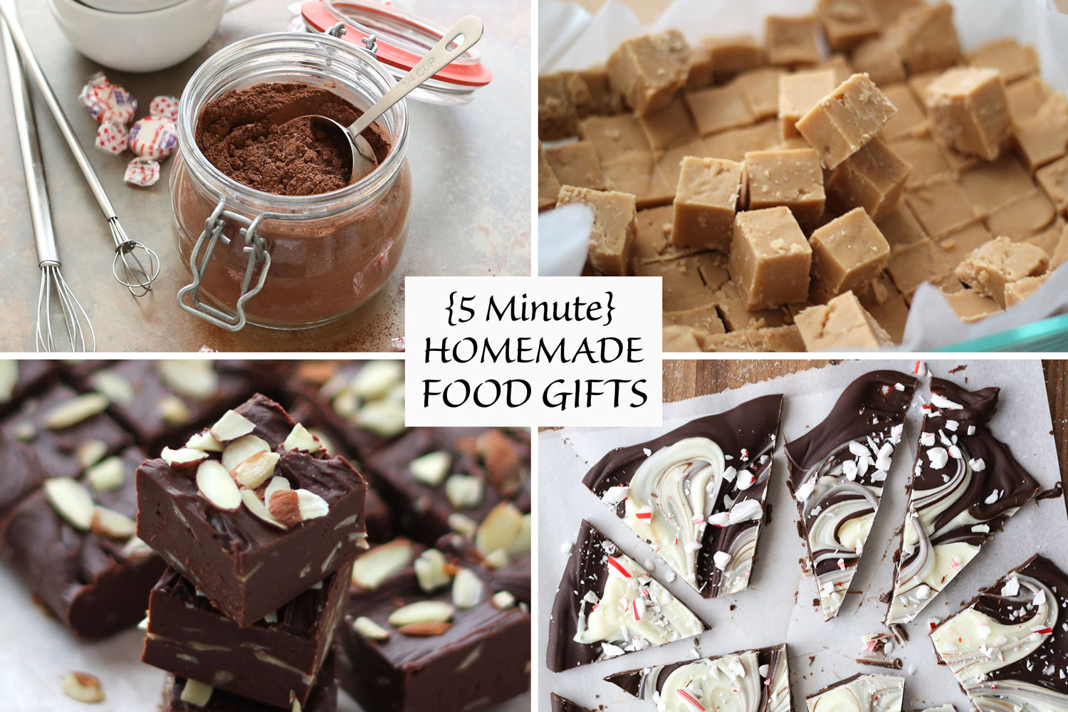 Five Minute Homemade Food Gifts - recipes and gifts for any occasion!