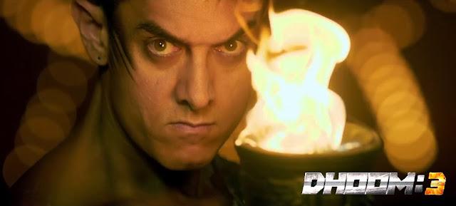 Angry look of Aamir Khan in Dhoom 3 movie still