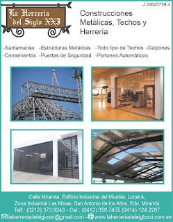 LA HERRERIA DEL SIGLO XXI C.A. en Paginas Amarillas tu guia Comercial