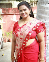 Minu Kurian in Red Saree