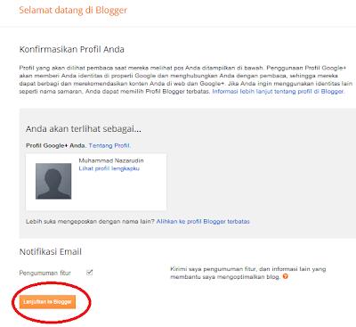 Mulai membuat blog gratis di blogger