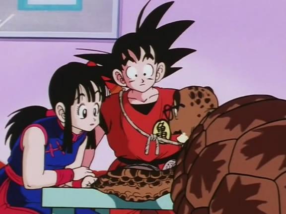 Chi chi kid and goku