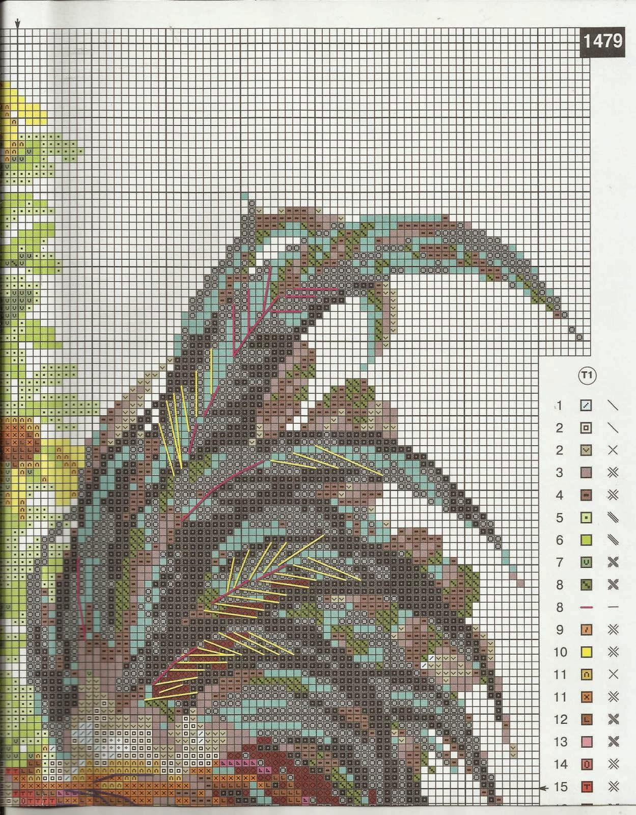 Схема для вышивания петух фото 726