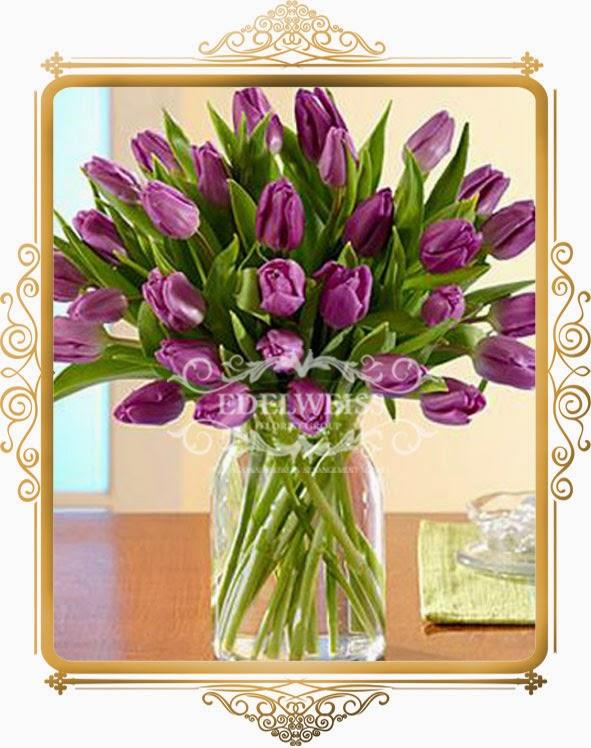 rangkaian tulip exclusive, bunga ucapan ulang tahun ibu, jual bunga tulip, toko bunga