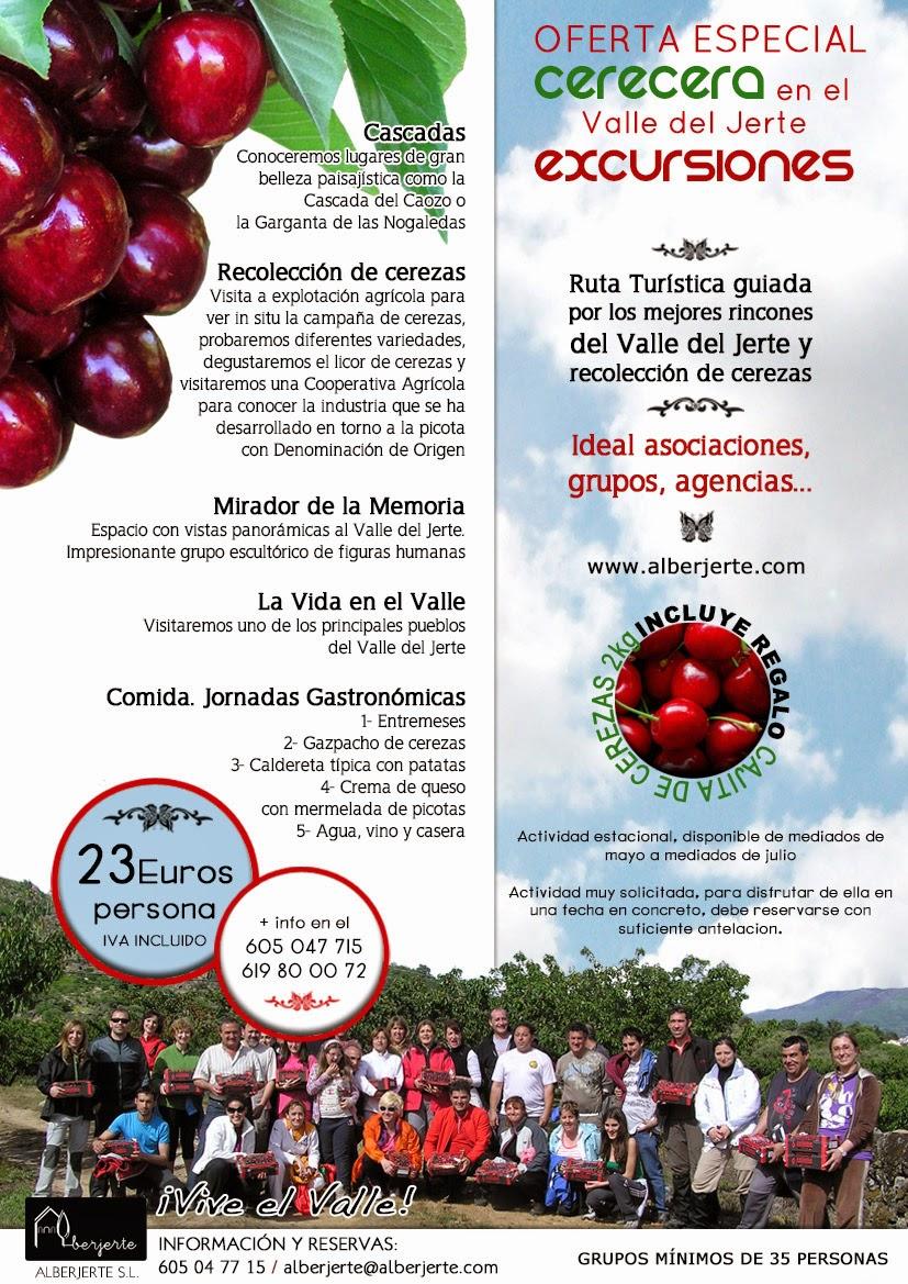Oferta especial: Excursión a la cerecera del Valle del Jerte