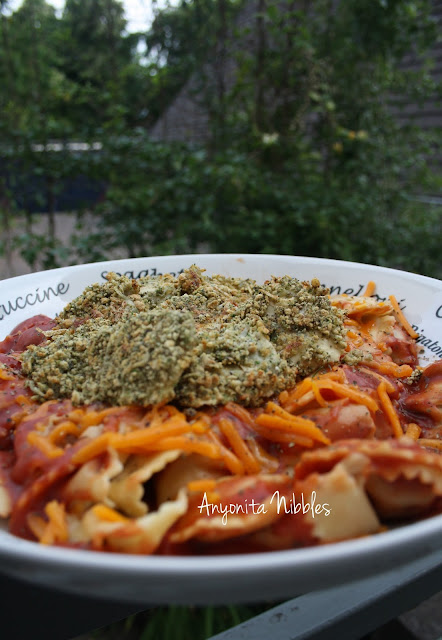 Traditional boiled ravioli topped with crispy baked ravioli from www.anyonita-nibbles.com