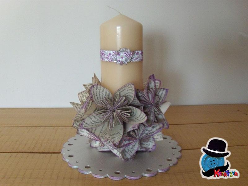 Estremamente Centrotavola per matrimonio chic con origami - Kreattivablog FM42