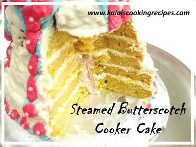 Steamed Butterscotch Cooker Cake
