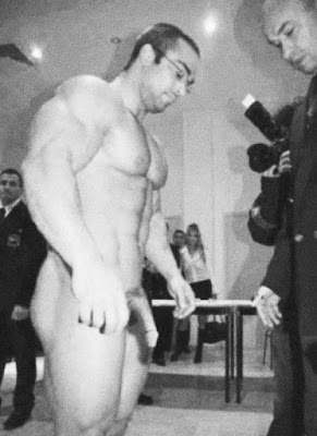 Naked wrestle weigh in