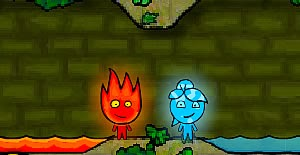 Fireboy & Watergirl 1 - in Forest Temple FLASH GAME