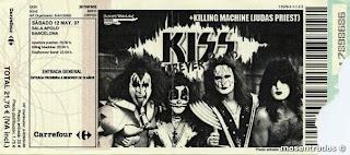 entrada de concierto de kiss fever