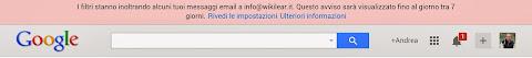 Avviso di impostazione di filtro di inoltro automatico in Gmail