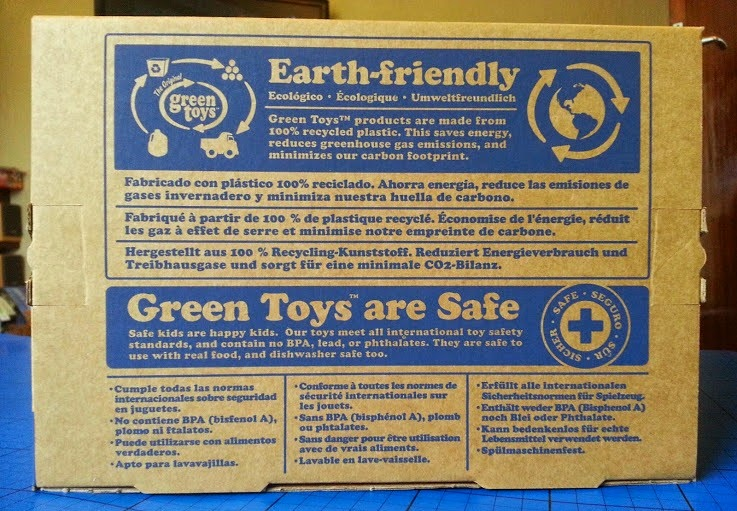 Green toys box information Recycled ecological eco-friendly
