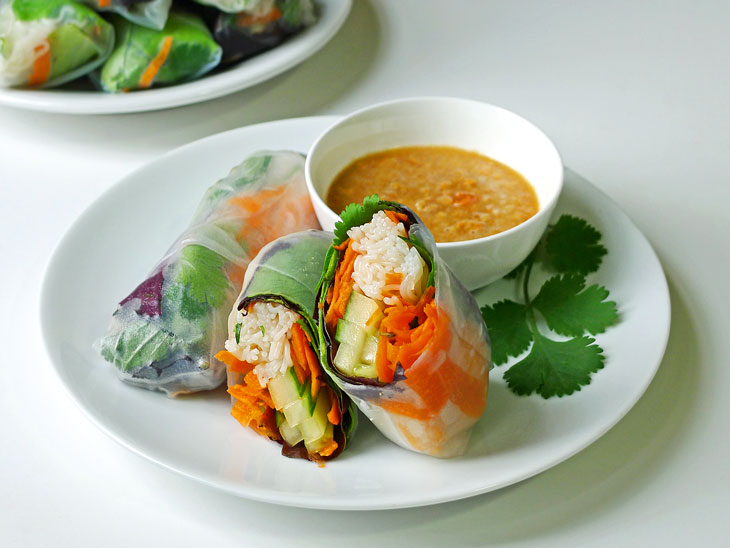 These spring rolls are fairly easy to prepare, very flexible, and they ...