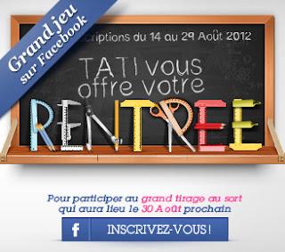Jeu concours: TATI.fr vous offre votre rentrée