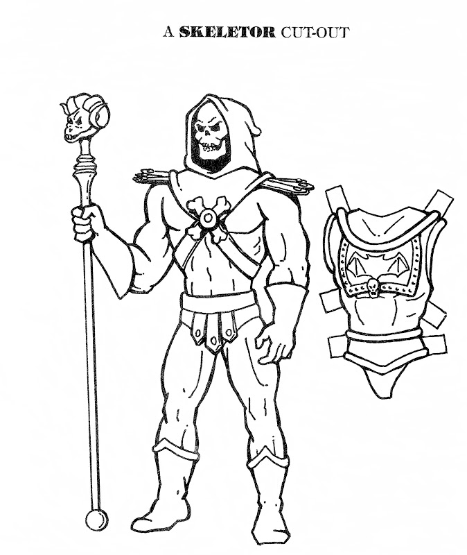 he man and the masters of the universe coloring pages - mostly paper dolls he man and skeletor cut outs
