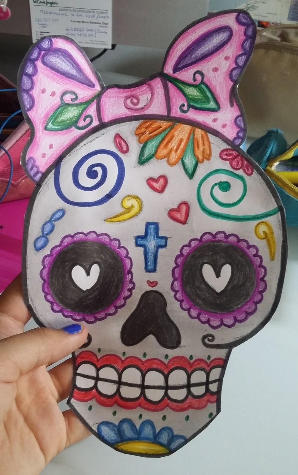 Create Your DIY: Cartapacio con calavera mexicana #DIYBackToSchool1