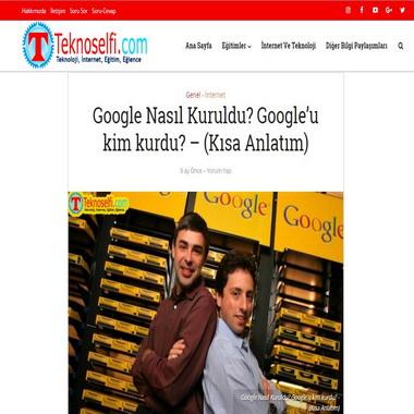 teknoselfie com - google nasıl kuruldu google'u kim kurdu