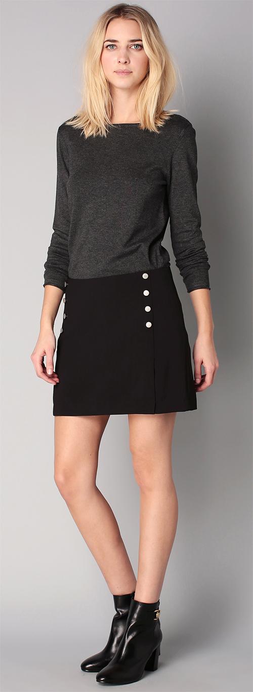Jupe courte noire Vero Moda