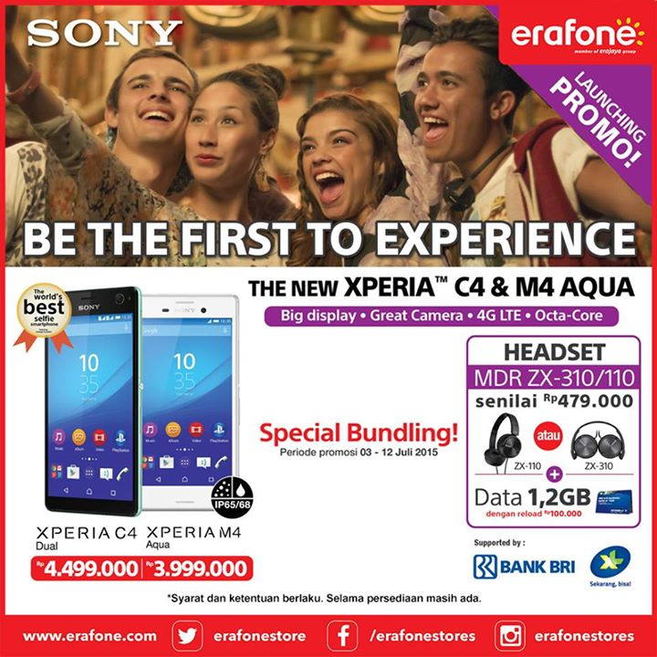 Promo Launching Sony Xperia M4 Aqua dan Xperia C4 Dual