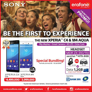 Sony C4 dan M4 Aqua Promo Launching