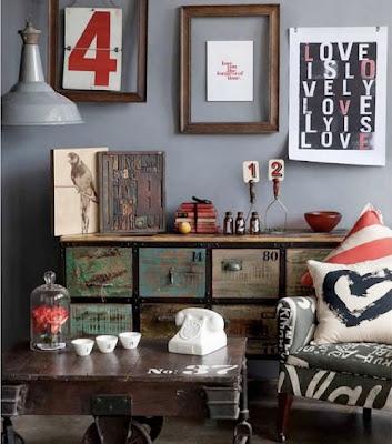 Shed home abigail ahern test - Vintage woonkamer meubels ...