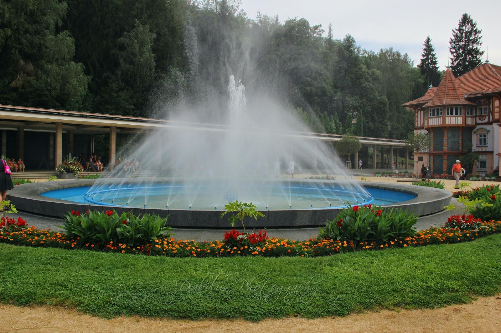 Fontána na kolonádě v Luhačovicích/The Fountain in Collonade in Luhačovice