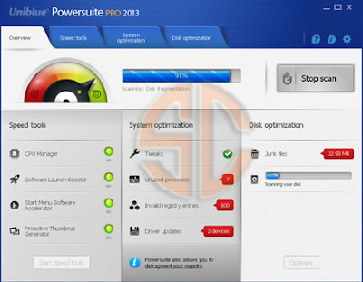 Uniblue PowerSuite PRO 2013 4.1.1.5 Final Full Version