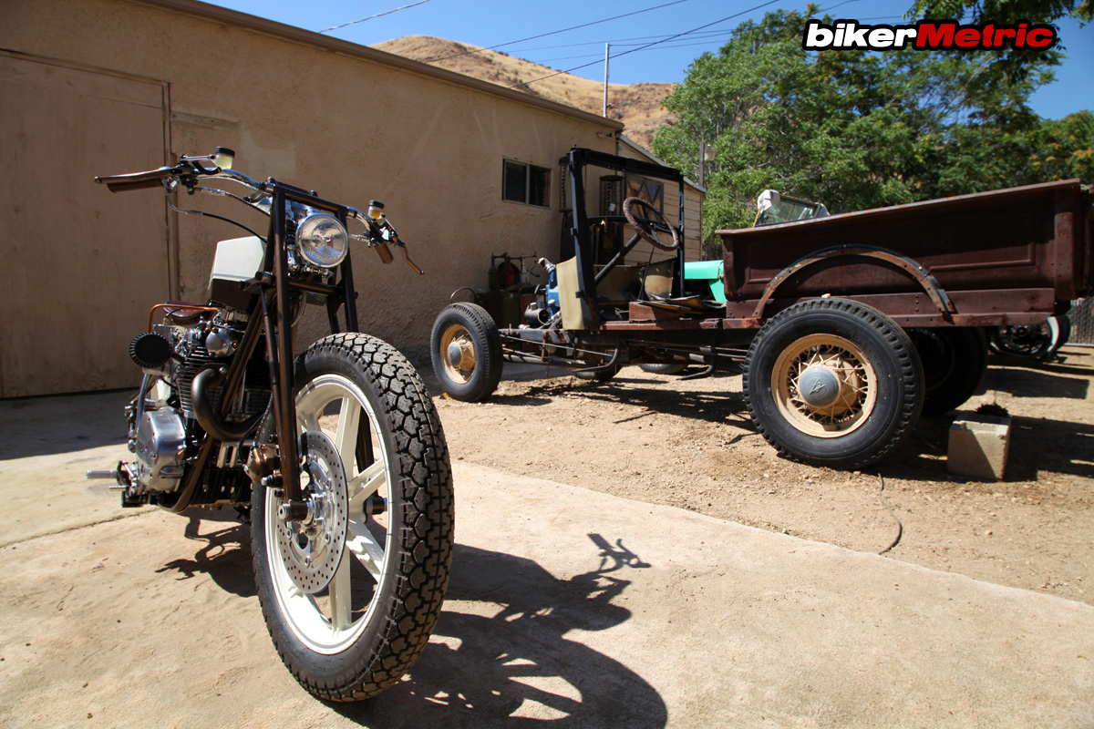 xs650 boardtracker/bobber and old truck | chappell customs