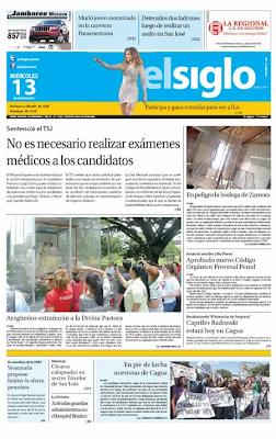 El Siglo (Aragua) (13 de Junio 2012)