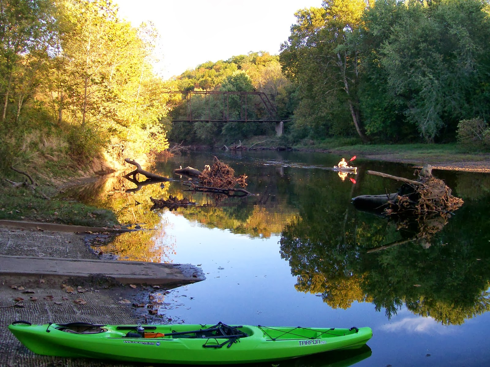 intuitive value kayaking in my backyard