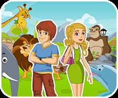 Game hẹn hò trong vườn bách thú, game vui nhon