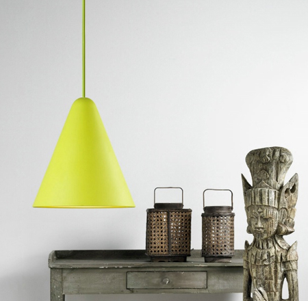 The NX504 Jive Suspension Lamp - Pendant in lime green, Nordlux 75403056
