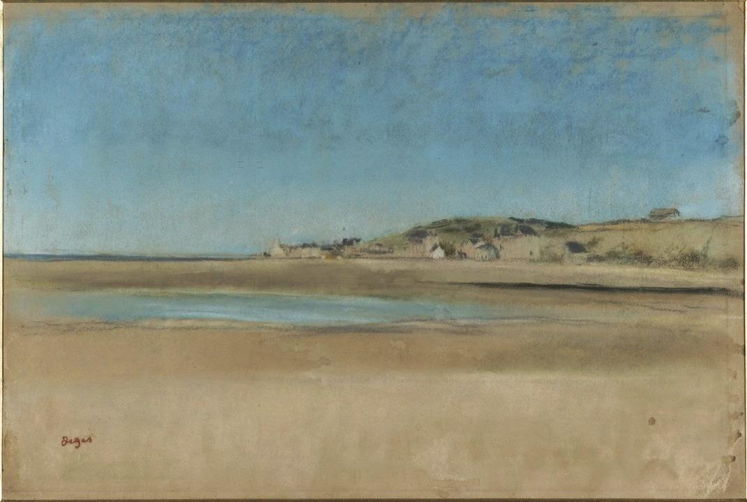Degas  - Maisons au bord de la mer