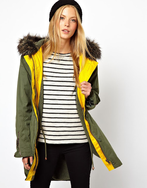 lined parka coat