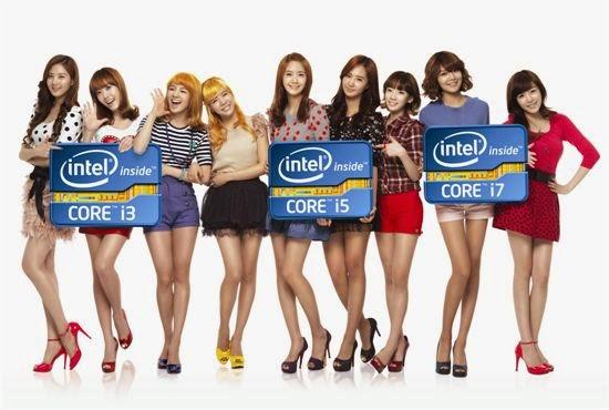 SNSD Terpilih sebagai Model untuk Intel Asia (Foto: Google Image)