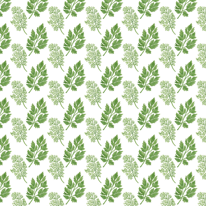 Dill and Parsley Flower Pattern Printed on Merchandise Illustration by Haidi Shabrina