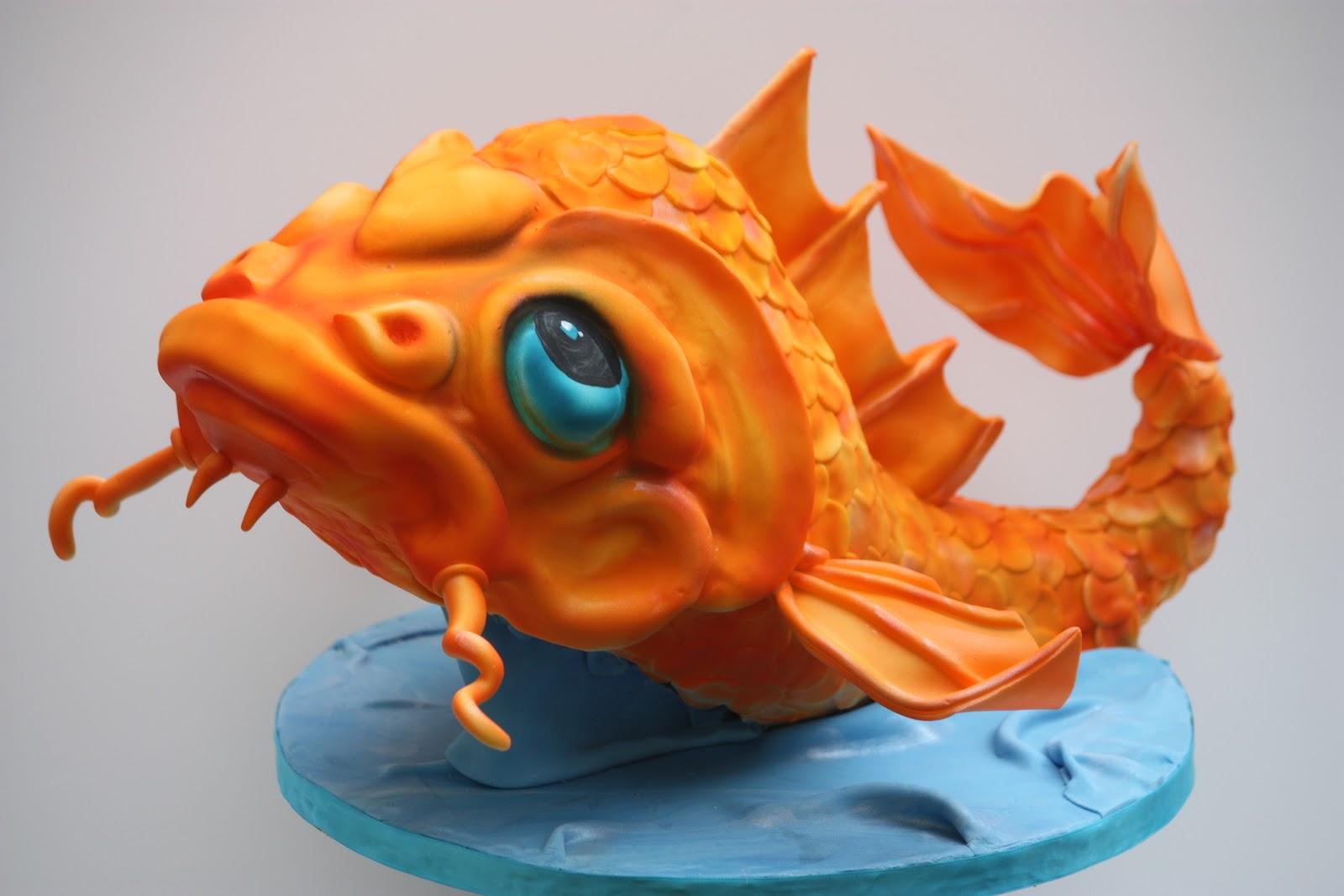 Whimsical by design koi fish cake for Fish cake design