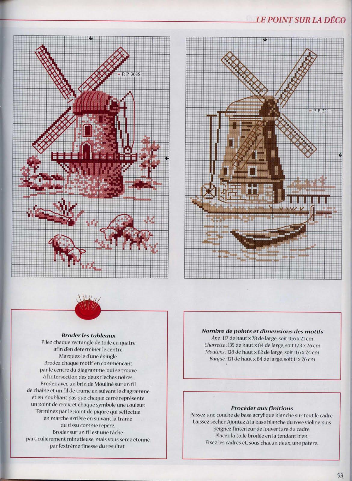Схемы мельниц вышивка