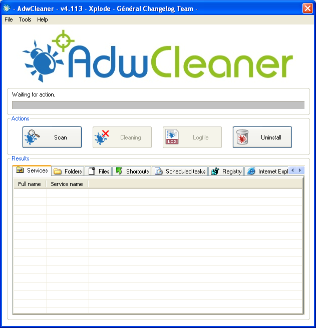 Scan files with Adwcleaner