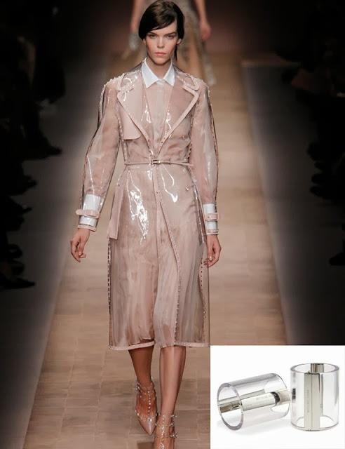 Fetish Fashion : Valentino PVC Raincot and Michael Kors Bracelets