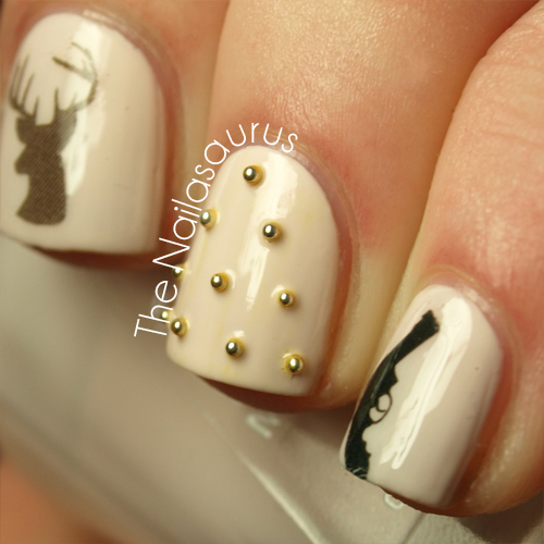 Studs Guns Deer The Nailasaurus Uk Nail Art Blog
